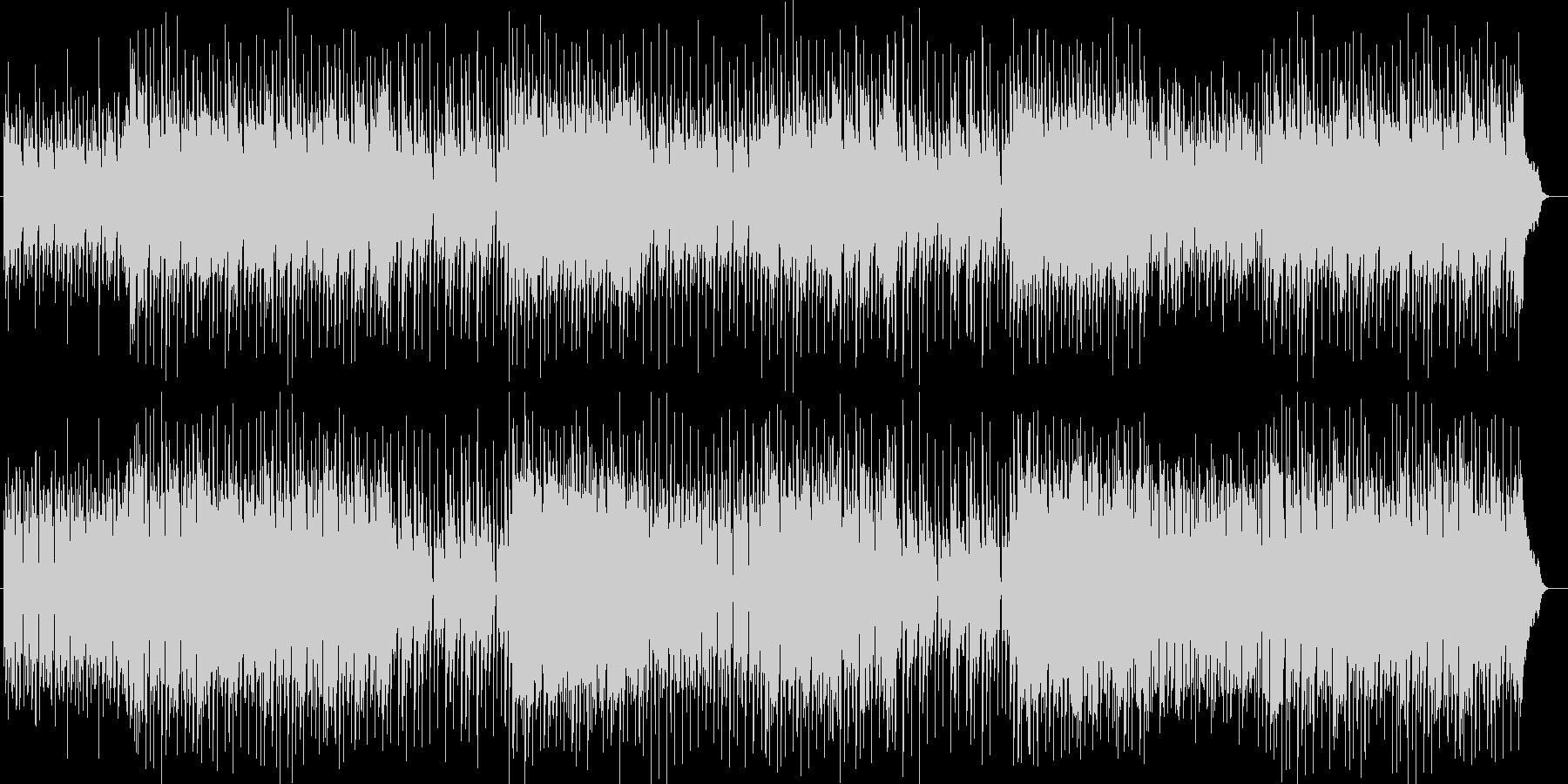 ポップでファンシーなシンセサイザー曲の未再生の波形