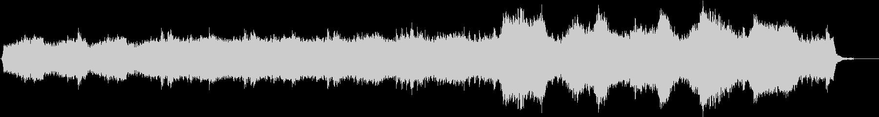 ホラーBGMの未再生の波形