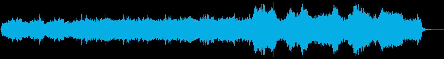 ホラーBGMの再生済みの波形
