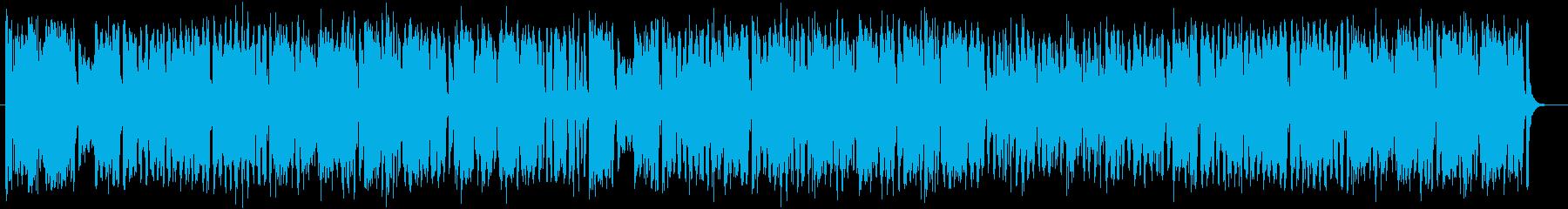 明るく元気のある吹奏楽の行進曲の再生済みの波形