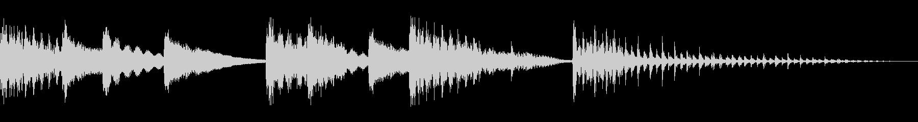 マリンバとエレピのスイングジングルの未再生の波形