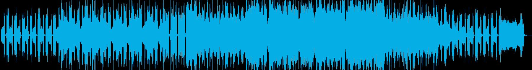 アコーディオン、怪しい雰囲気のBGMの再生済みの波形