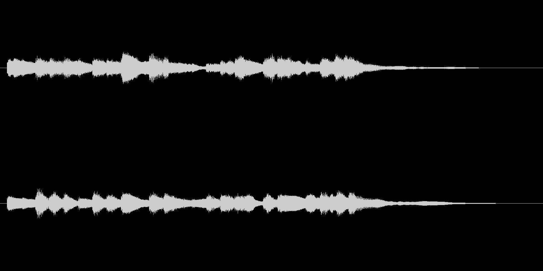 鉄道の到着メロディ(オルゴール音)の未再生の波形