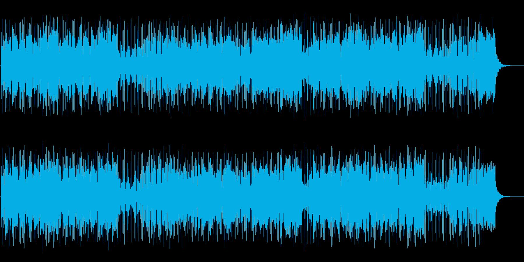 疾走感のあるポップで軽めのファンクの再生済みの波形
