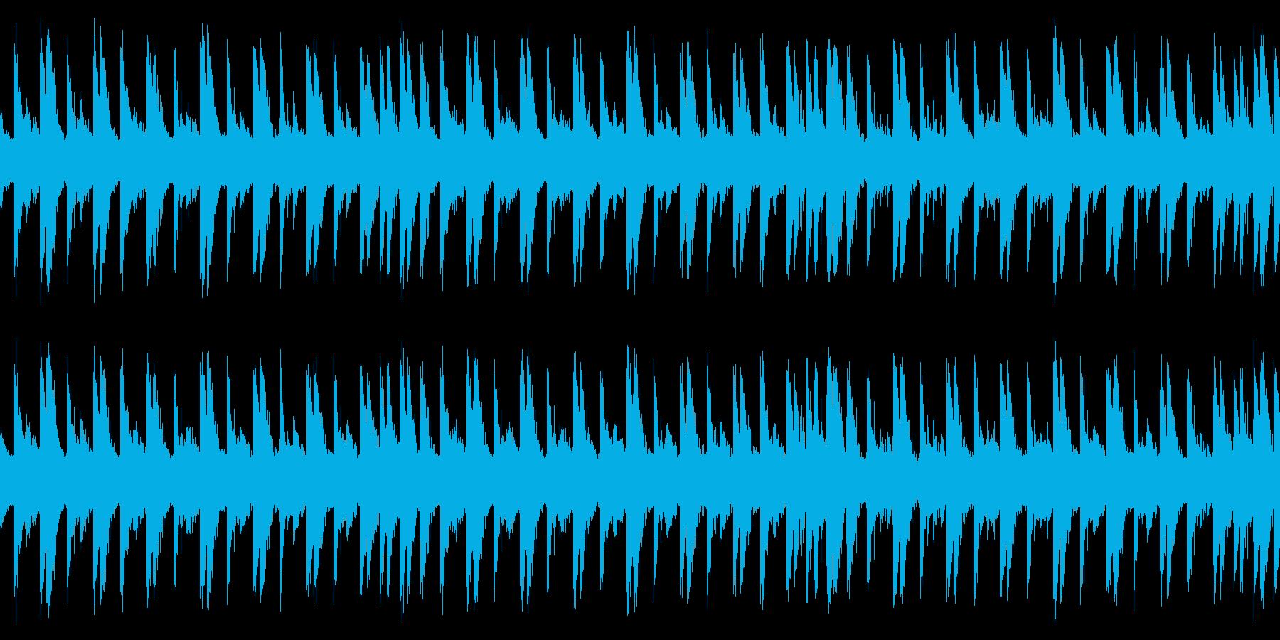 アコギのアルペジオを使ったごく短いループの再生済みの波形