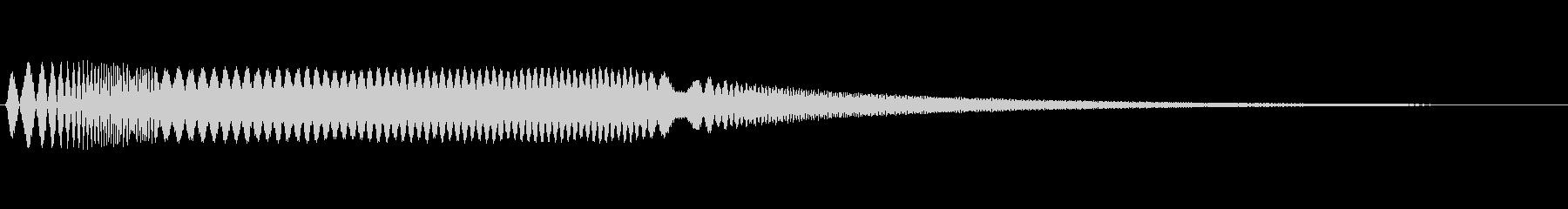 ボタンを押すようなシンセ音の未再生の波形