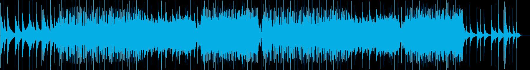 おしゃれなトラップミュージックの再生済みの波形