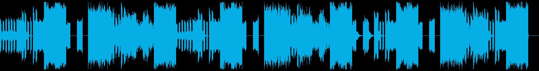 テクノ系BGMです 機械音楽の再生済みの波形