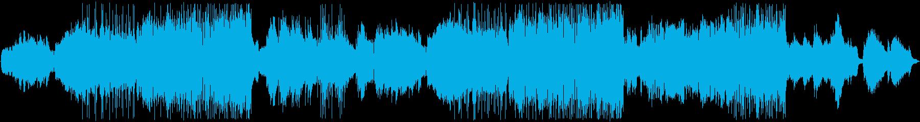 ヴァイオリンとピアノ旋律の美しいバラードの再生済みの波形