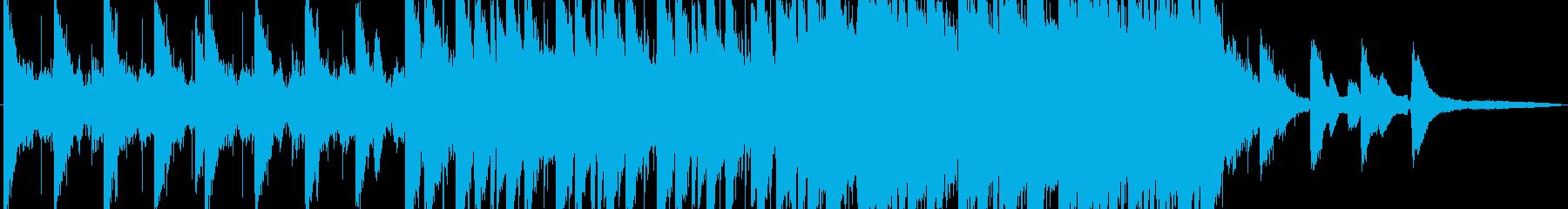 神秘的な雰囲気のローファイビートの再生済みの波形