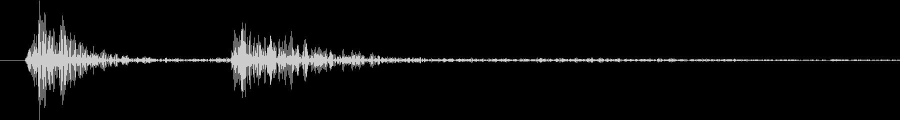 【生録音】お箸の音 17 そっと手に取るの未再生の波形