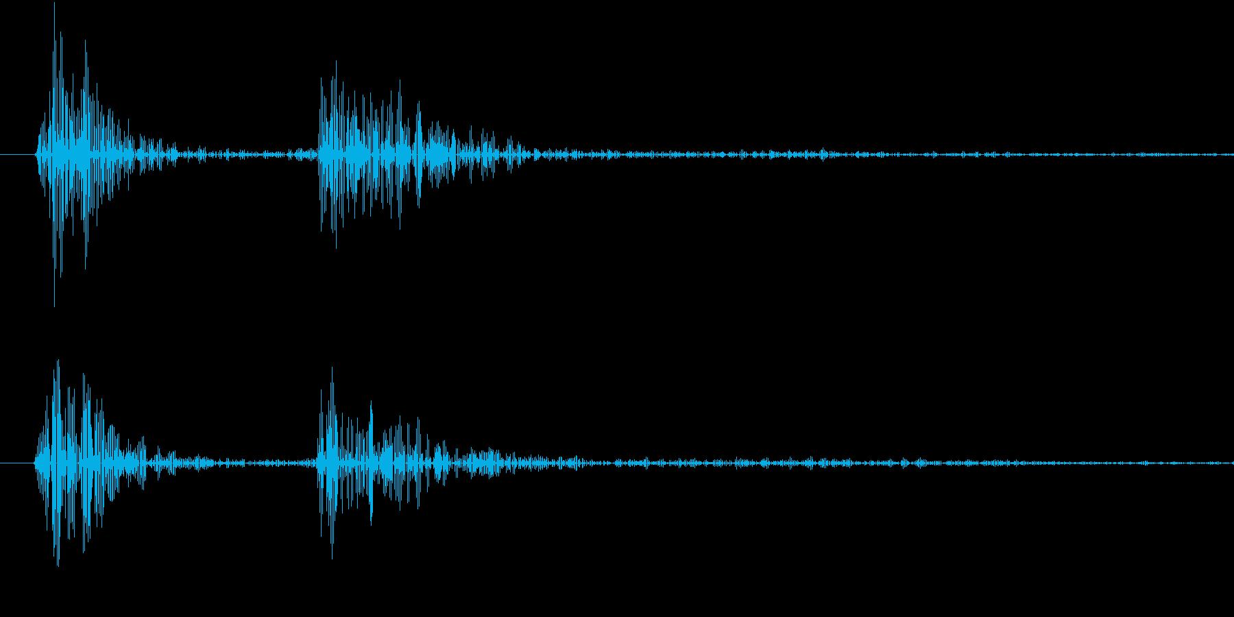 【生録音】お箸の音 17 そっと手に取るの再生済みの波形