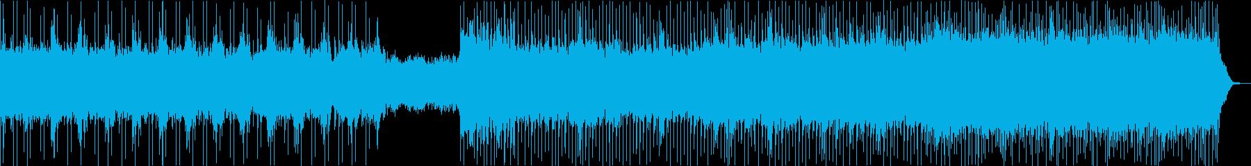 この曲は、ドラム、エレキギター、ベ...の再生済みの波形