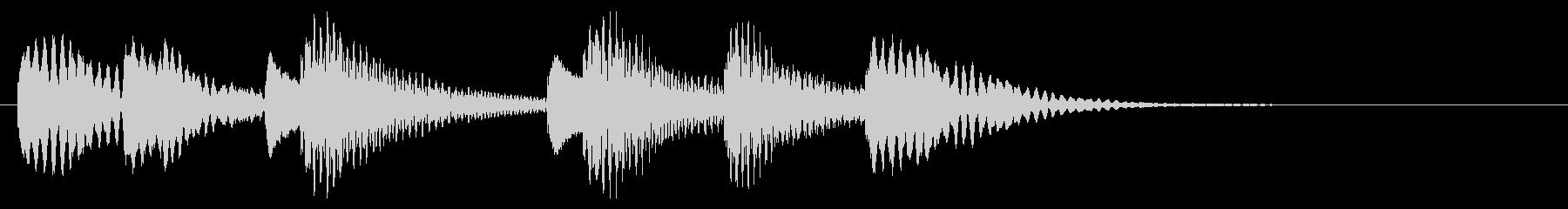 木琴 可愛い ほのぼの ジングル の未再生の波形