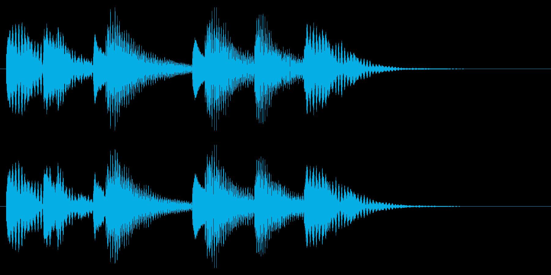 木琴 可愛い ほのぼの ジングル の再生済みの波形
