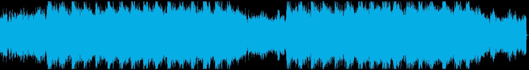 怪しく不気味なニュアンスのBGMの再生済みの波形