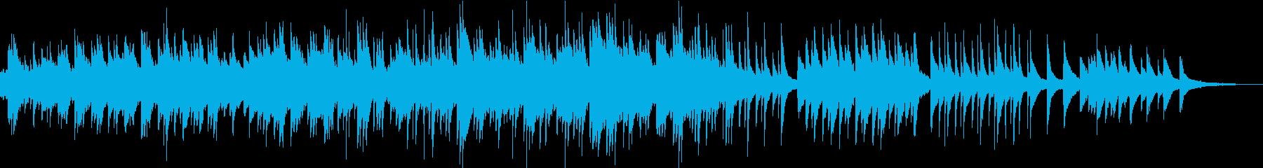 ドキュメンタリー映像に合う感動ピアノの再生済みの波形
