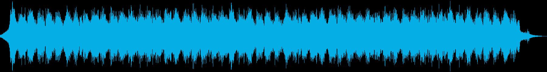 滝から流れ落ちる水がきらびやかな音楽の再生済みの波形