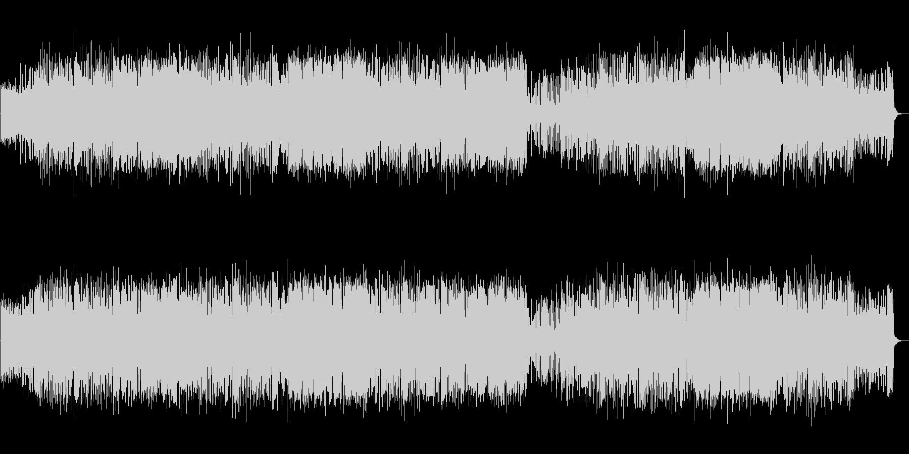 生録音のフルートと軽やかなバンドサウンドの未再生の波形