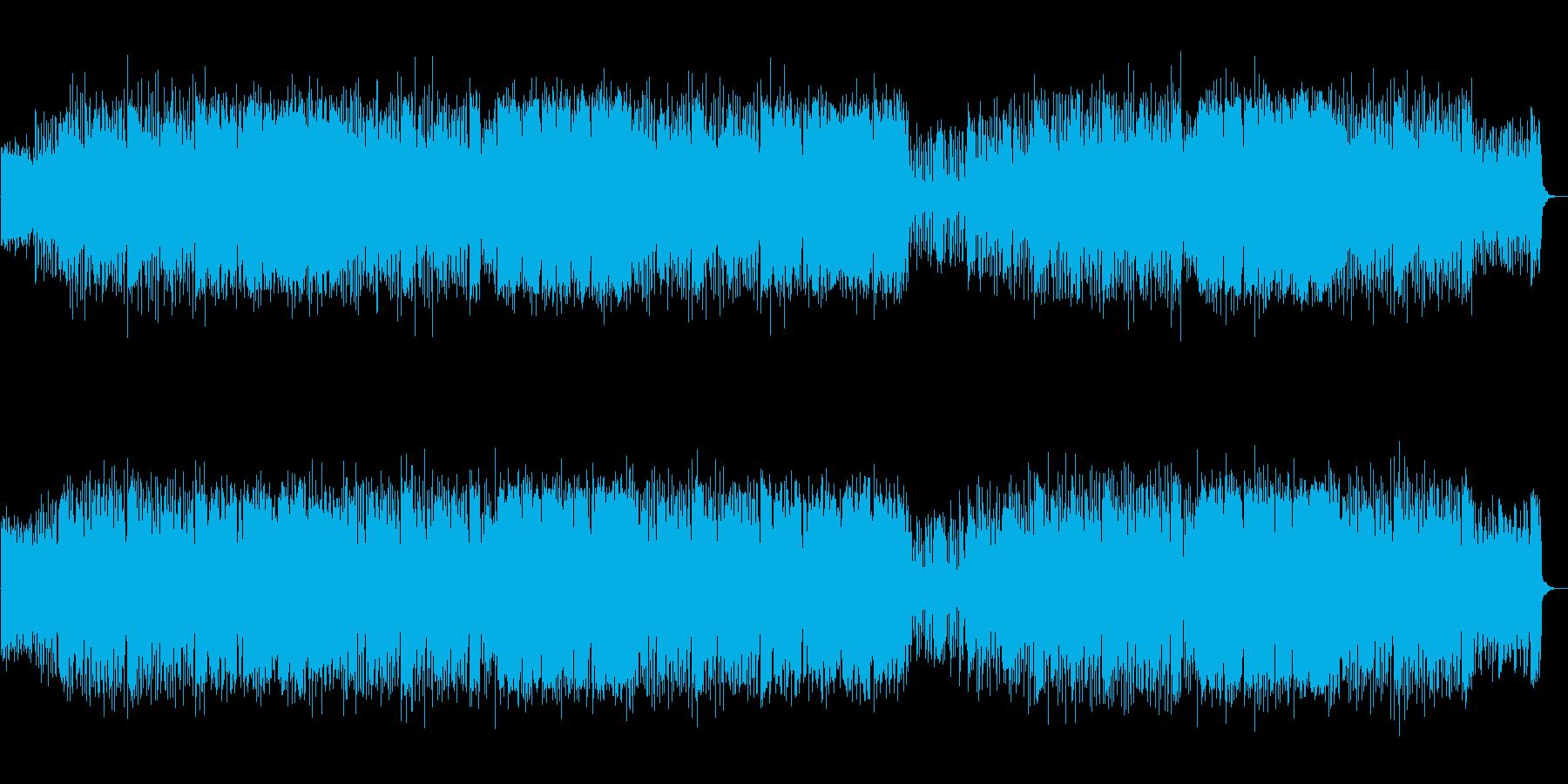 生録音のフルートと軽やかなバンドサウンドの再生済みの波形