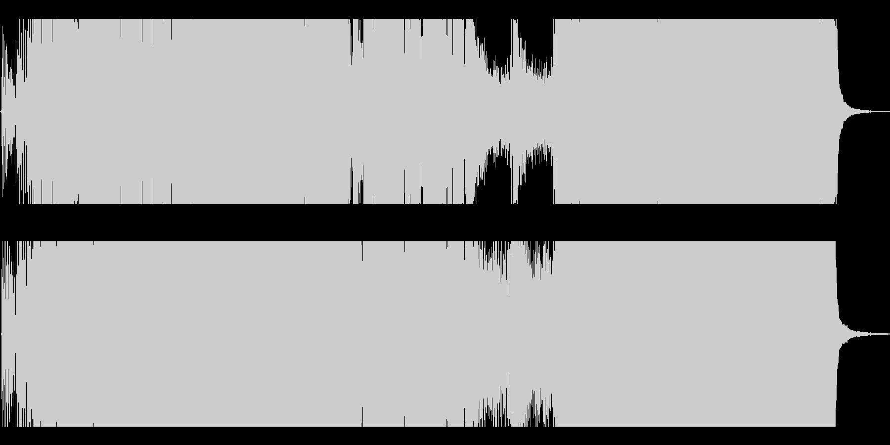 疾走感のあるエレクトロチューンの未再生の波形