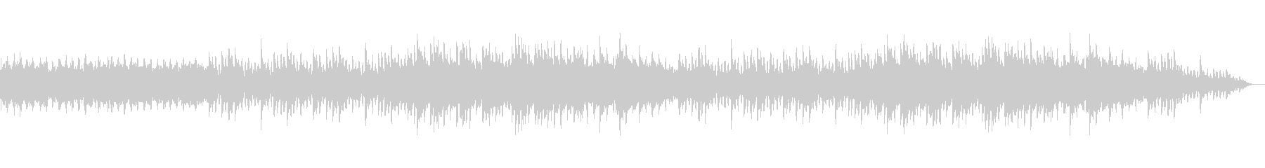 幻想的でキラキラしたクリスマスBGMの未再生の波形