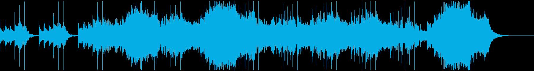 不気味に歪んだレトロな電子音のホラーSの再生済みの波形