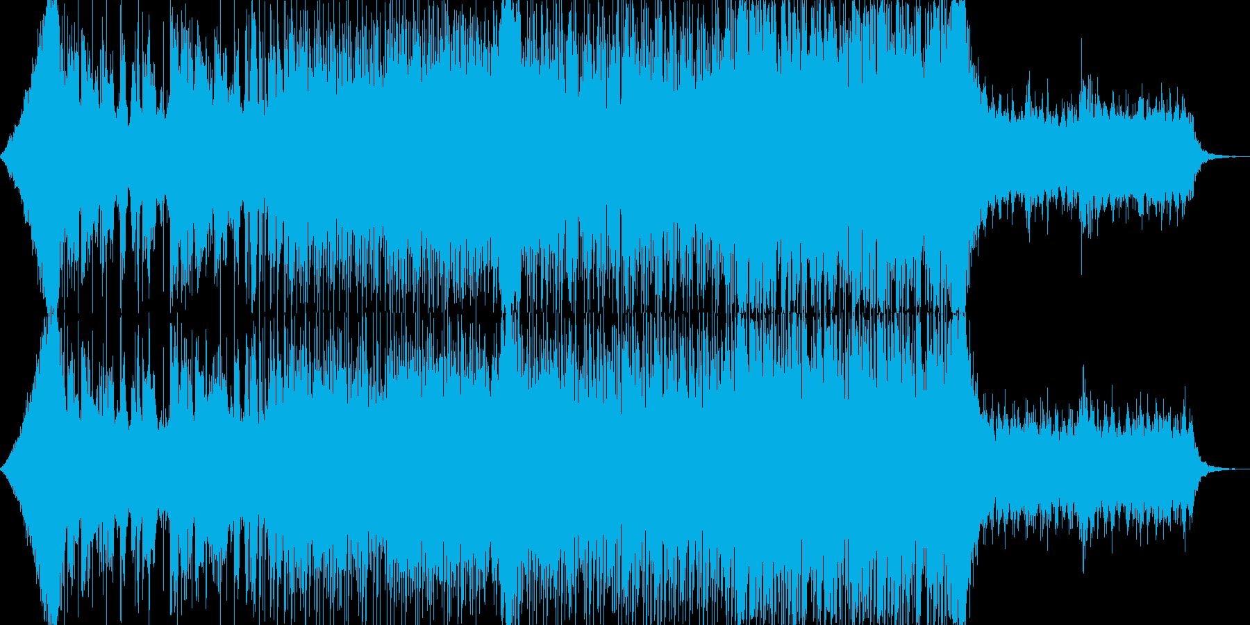 おしゃれクールカッコいいハウステクノBの再生済みの波形