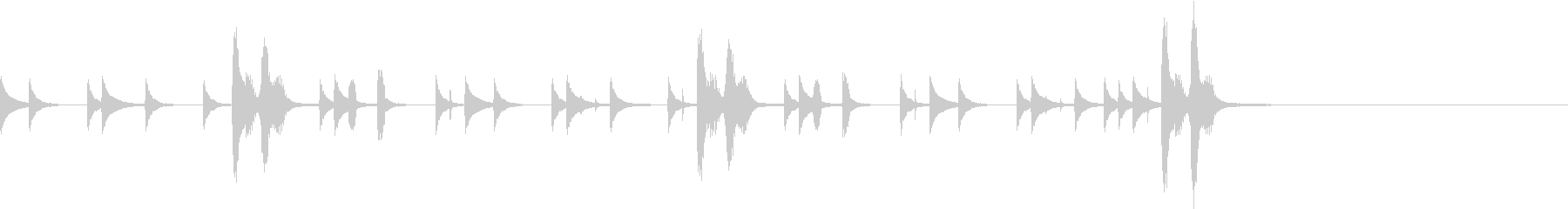 ウクレレ 打楽器ほのぼの日常 ジングル2の未再生の波形