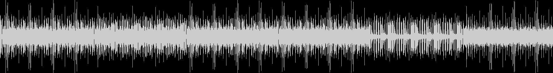 無機質なインダストリアルビートの未再生の波形