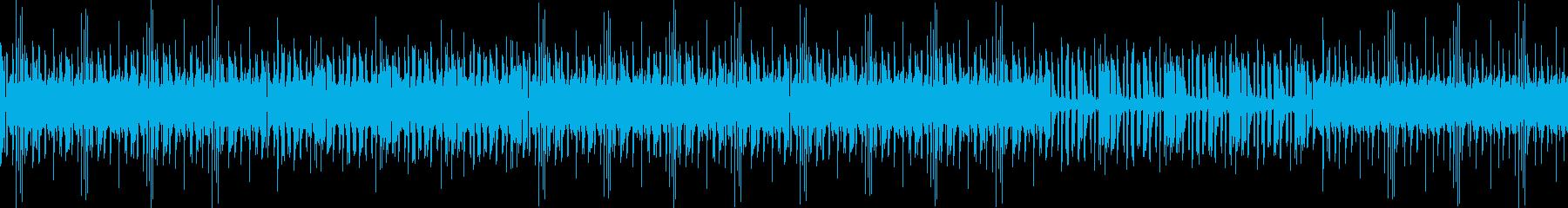 無機質なインダストリアルビートの再生済みの波形