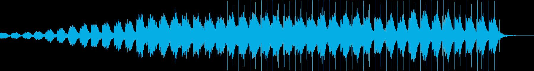 ワクワク期待感のあるエレクトロニカ・テクの再生済みの波形