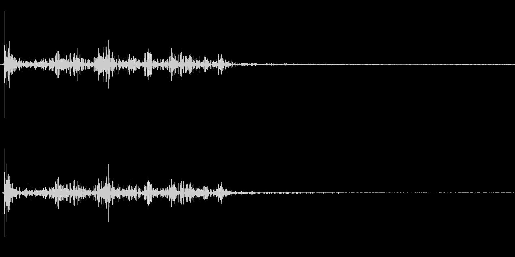 【生録音】パッケージ 開封音 2の未再生の波形