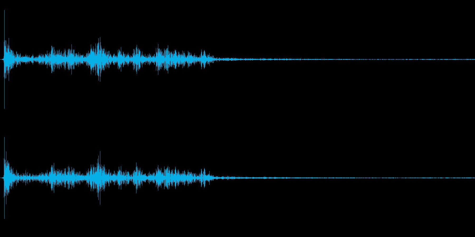 【生録音】パッケージ 開封音 2の再生済みの波形