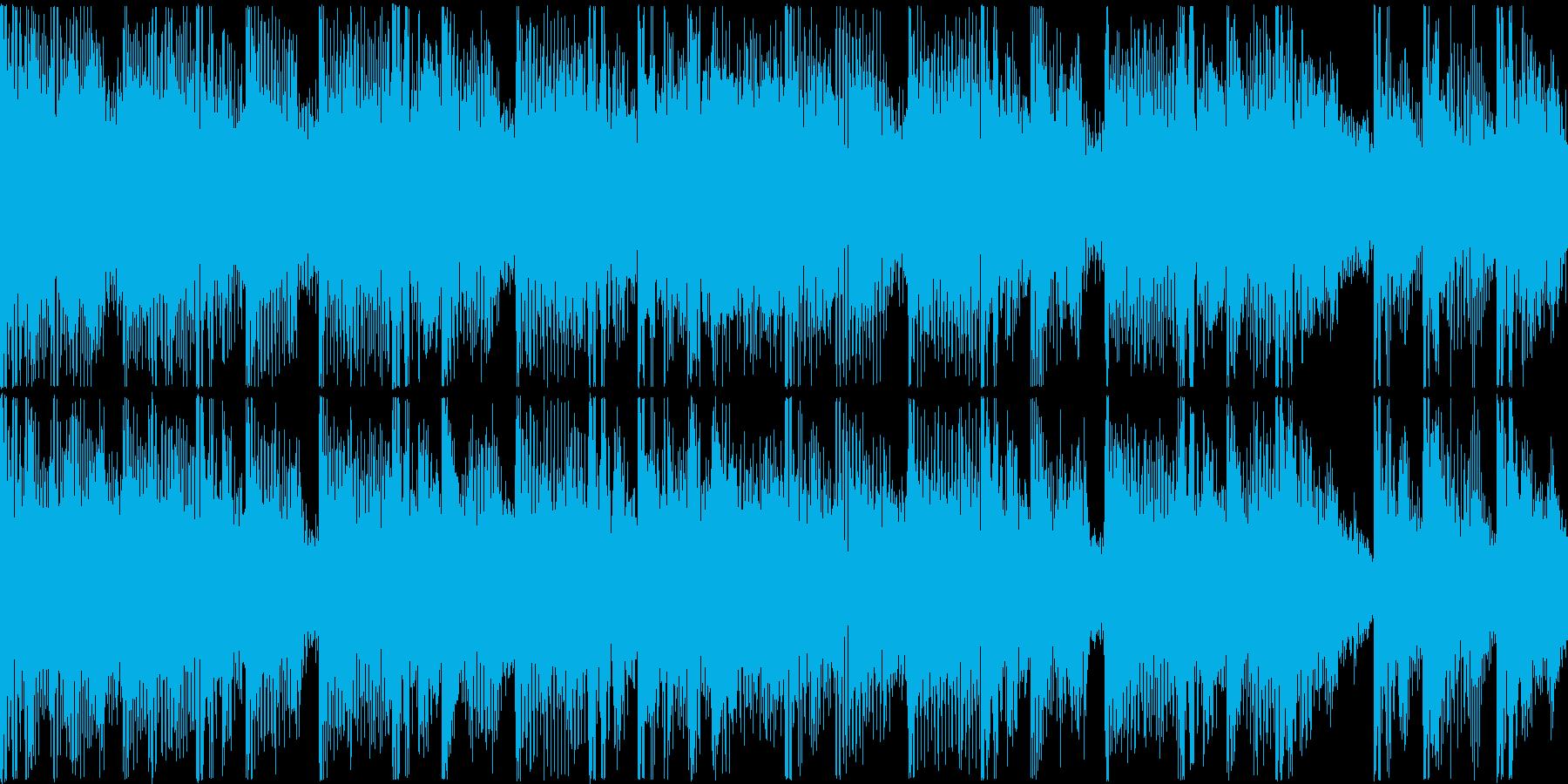 ループ。シンセ、リズムマシーン打ち込み。の再生済みの波形