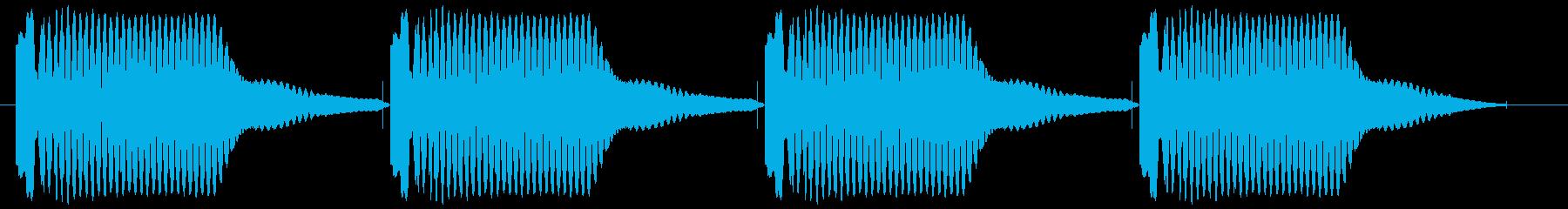 機械等が故障や警告時の音ですの再生済みの波形