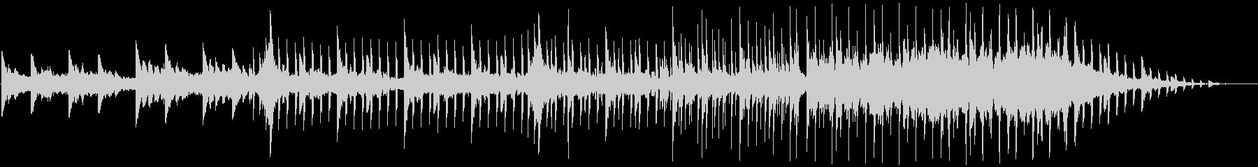 ダンサブルな4つ打ちR&Bトラックの未再生の波形