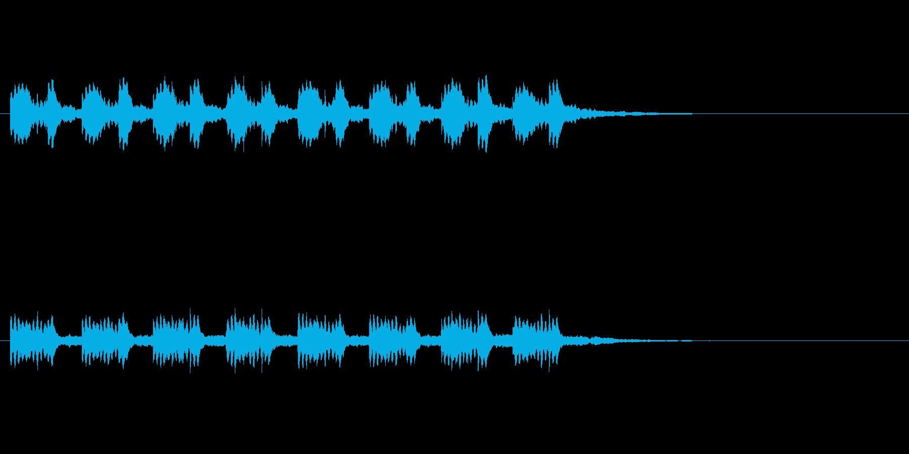 警告音・アラーム。慌てさせない様ゆっくりの再生済みの波形