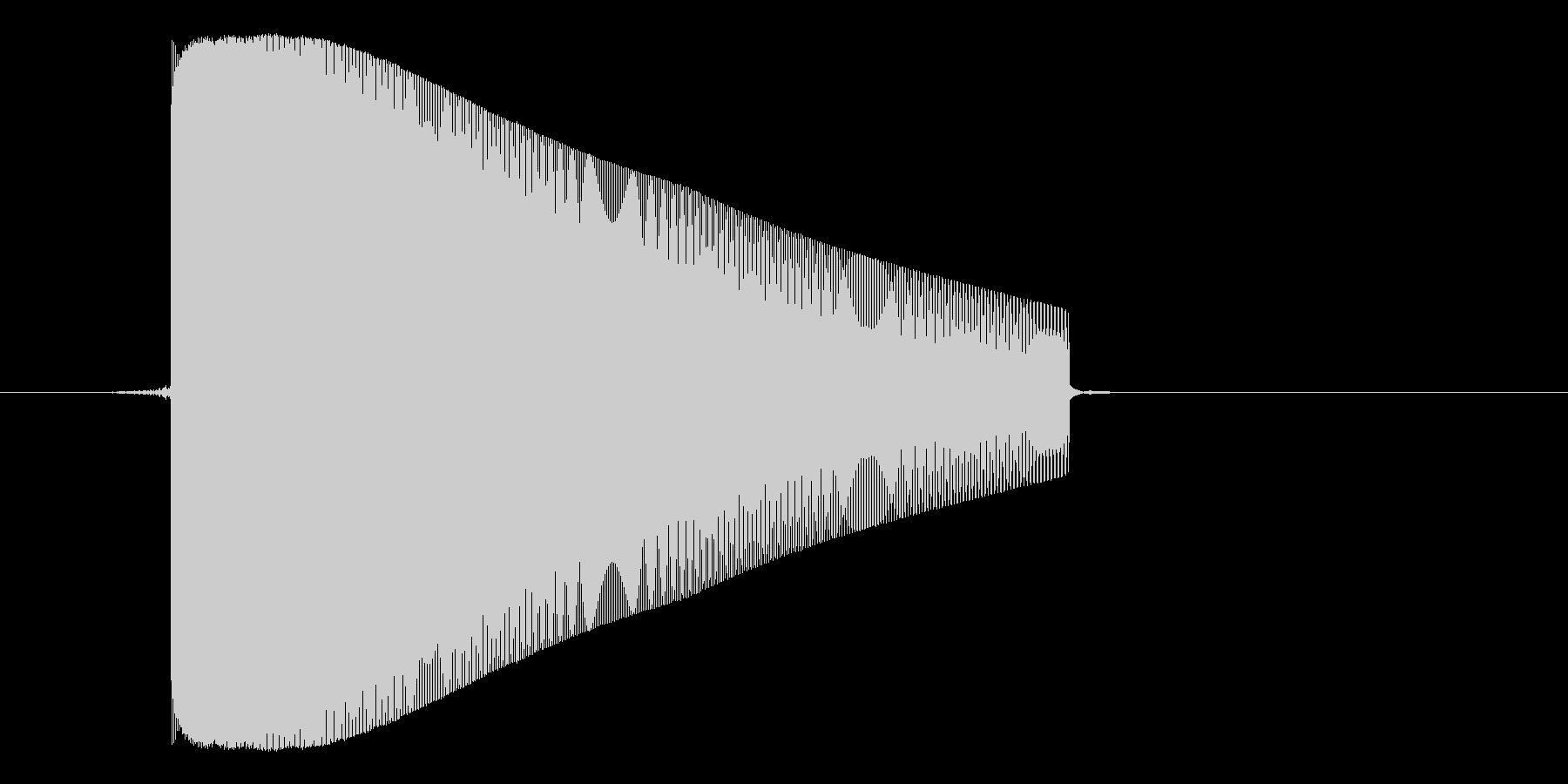 ゲーム(ファミコン風)レーザー音_047の未再生の波形