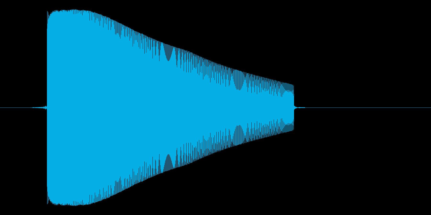 ゲーム(ファミコン風)レーザー音_047の再生済みの波形