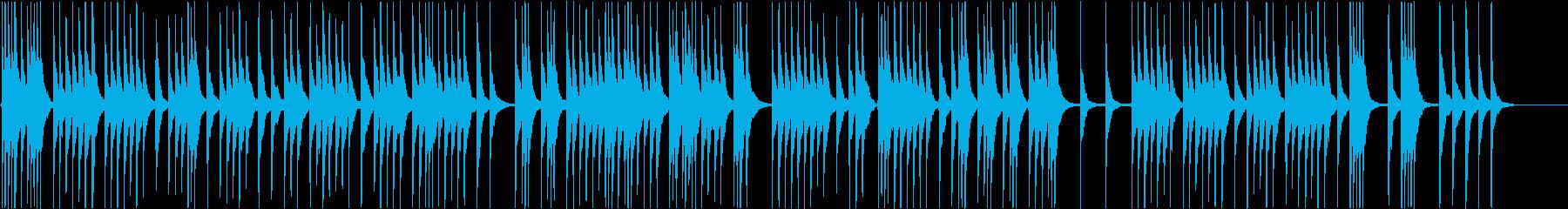 琴のみ単旋律・ヨナ抜き短音階の和曲の再生済みの波形