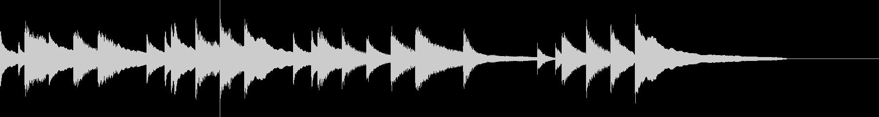 オシャレなコードのハッピバースディの未再生の波形