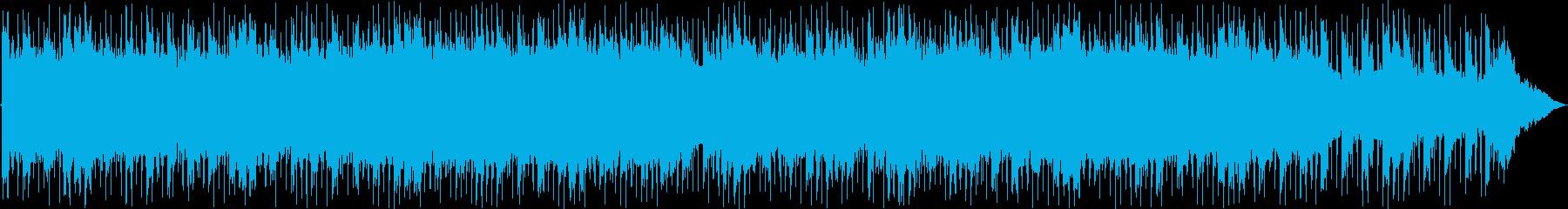 前向きなイメージのキラキラ系BGMの再生済みの波形