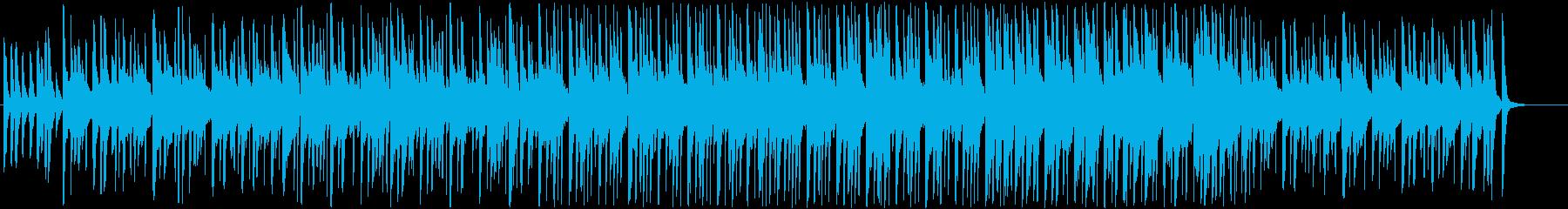 ポップで軽快なBGMの再生済みの波形