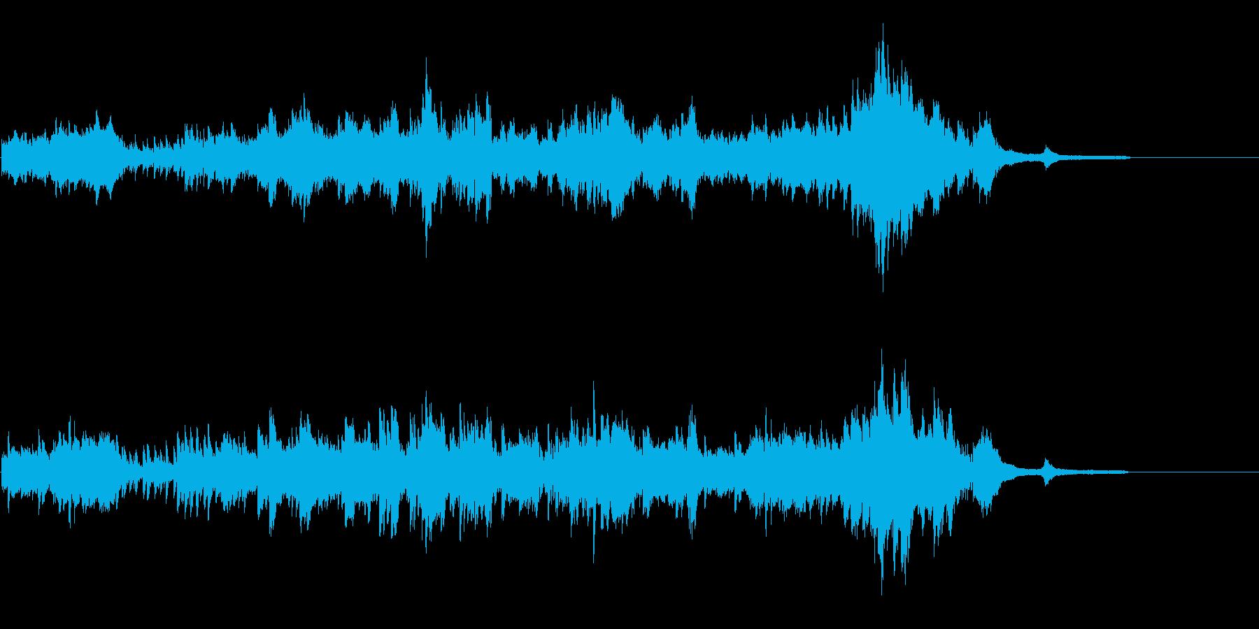綺麗だけどちょっと怖いピアノソロの再生済みの波形