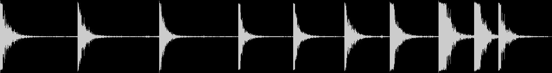 メタルドラムヒットの未再生の波形