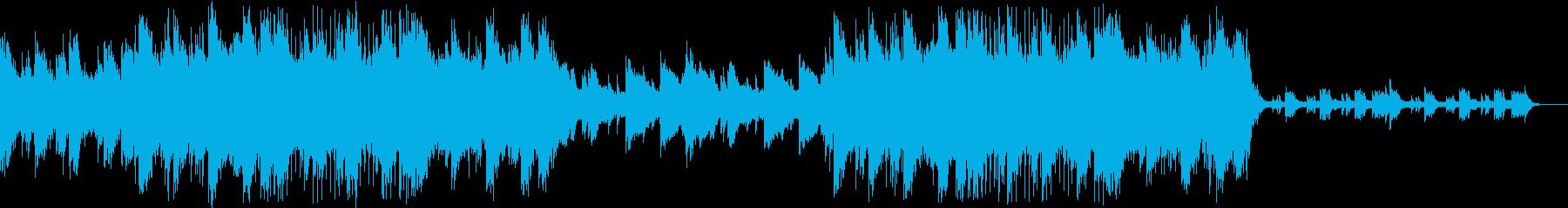 幻想的な雰囲気のBGMの再生済みの波形