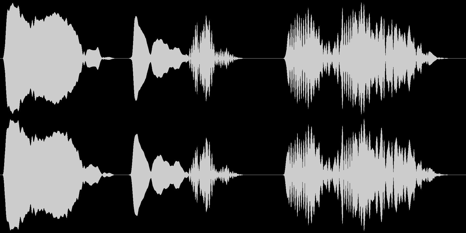 キジバト 一鳴き ホーホー ホッホーの未再生の波形