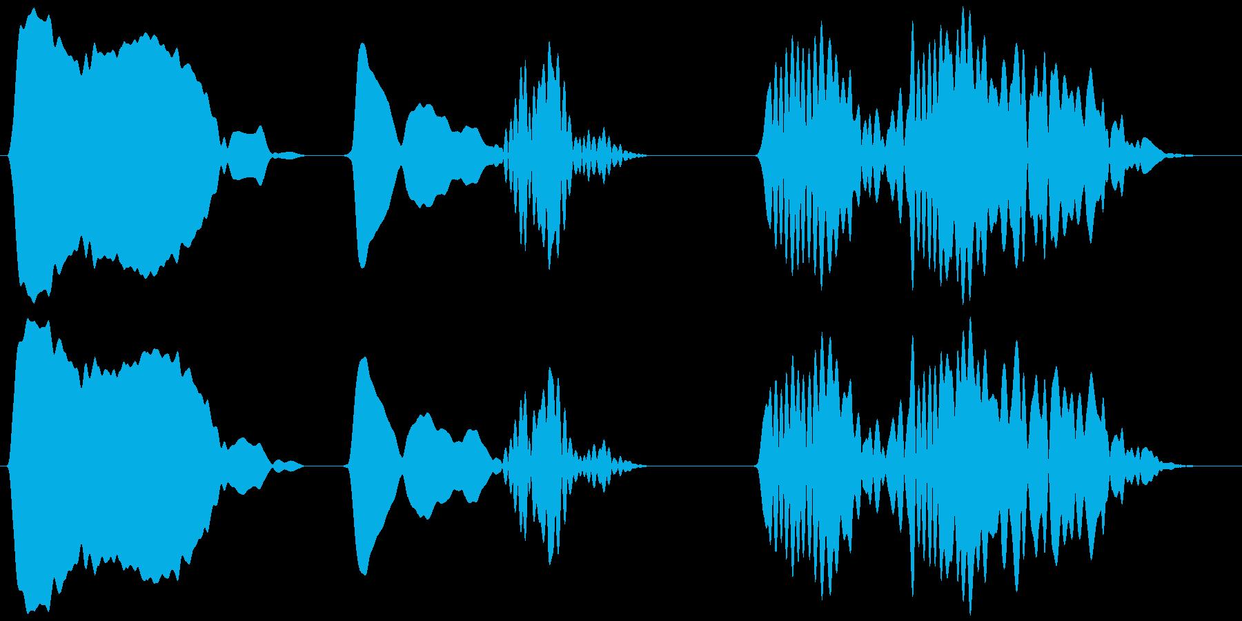 キジバト 一鳴き ホーホー ホッホーの再生済みの波形