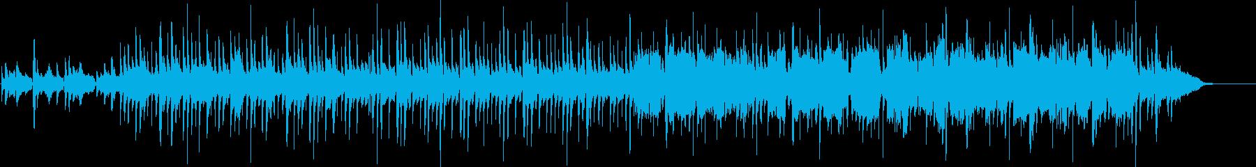和風でゆったりしたBGMの再生済みの波形